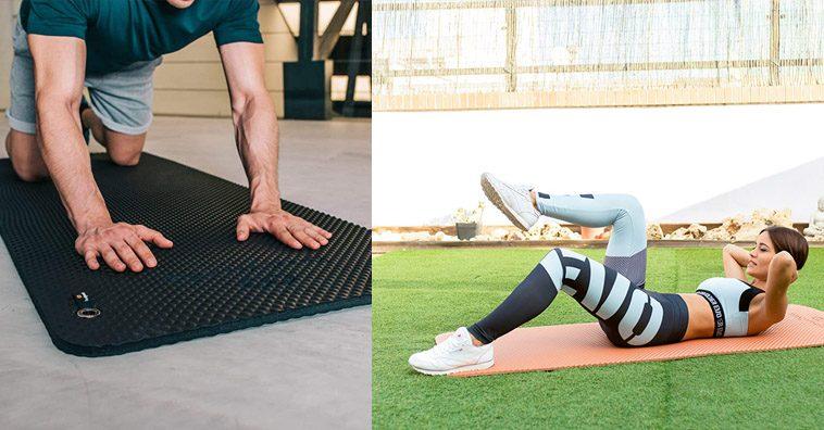 para Ejercicios en el Suelo Pilates Gimnasia Camping Estiramientos Espesor de 12 mm 173 x 61 x 1,2 cm Esterilla Pilates ATIVAFIT Estera de Yoga TPE Premium Abd/ómenes